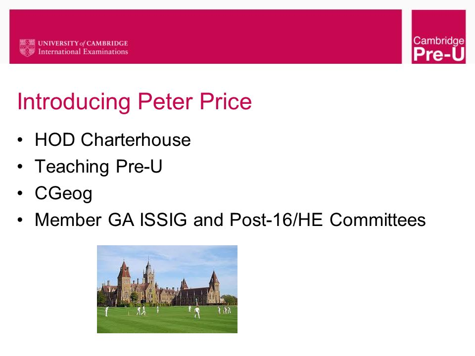 Introducing Peter Price