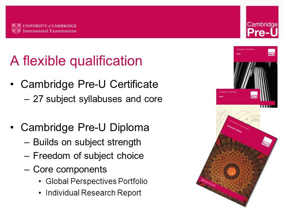 A flexible qualification