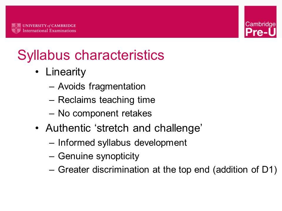 Syllabus characteristics