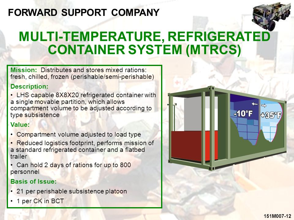 Multi Temperature Refrigerated Container System Army Multi