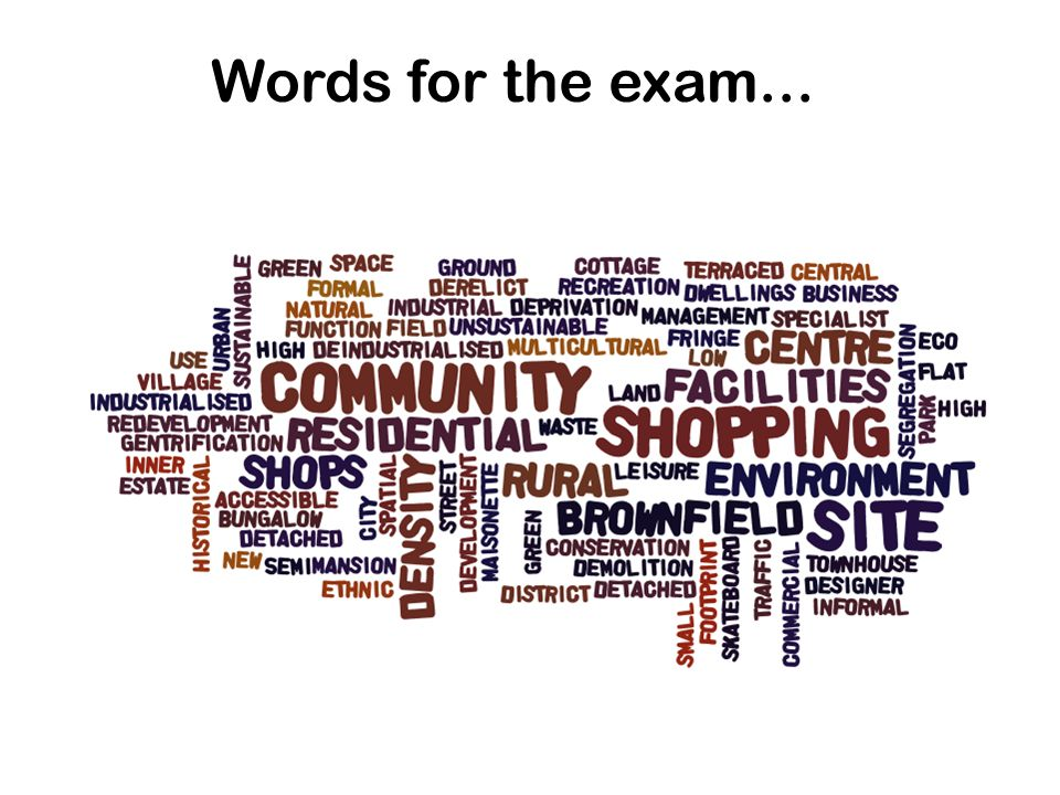 Words for the exam...