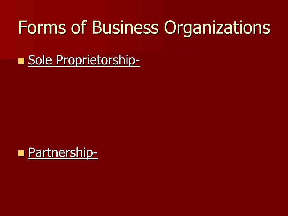 """the sole proprietorship and partnership form marketing essay A sole proprietorship is the most basic form of business ownership,  in a  general partnership, all owners of the business have an  and technologies for  day-to-day operations, guidance on marketing,  financial analysis – a """"check- up"""" for a business alternative stock trading strategies for beginners →."""