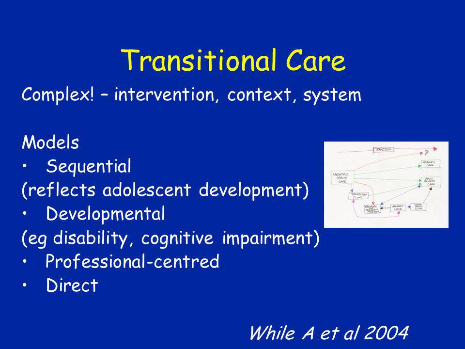 Transitional Care Complex! – intervention, context, system Models