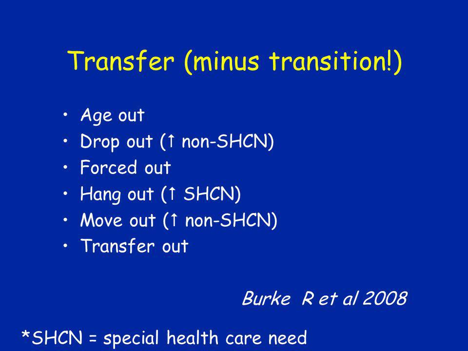 Transfer (minus transition!)