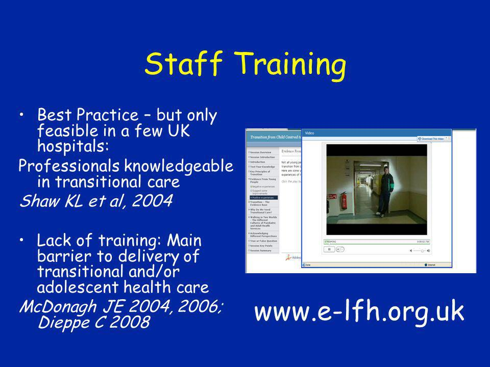 Staff Training www.e-lfh.org.uk