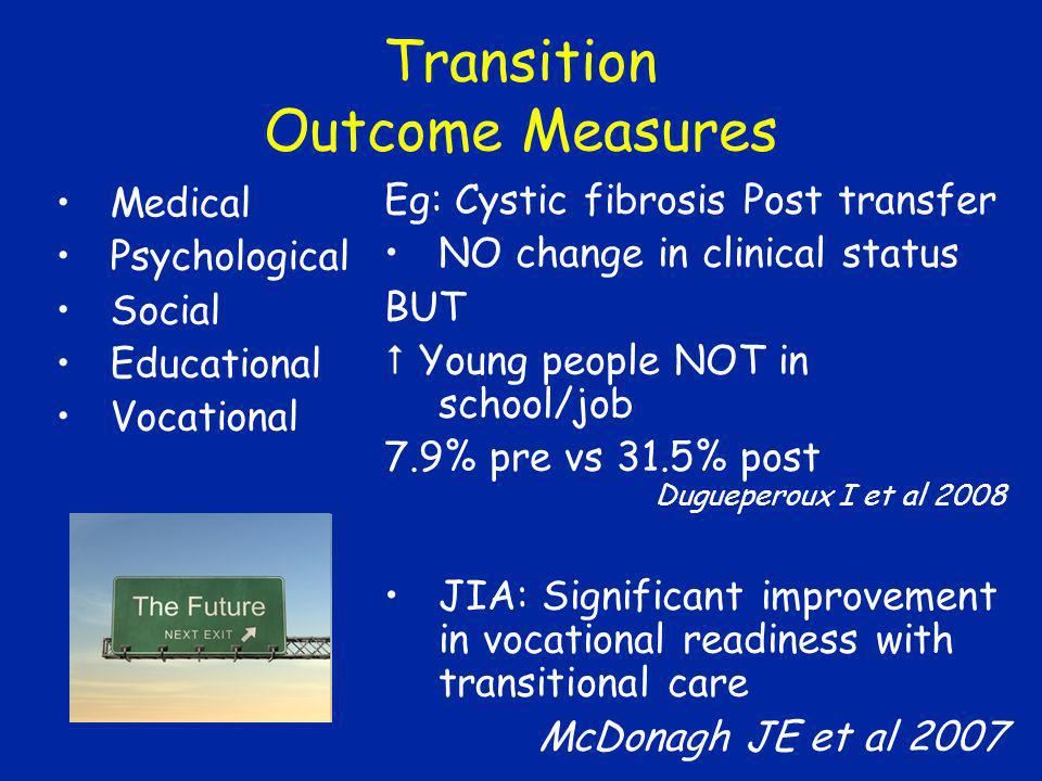 Transition Outcome Measures