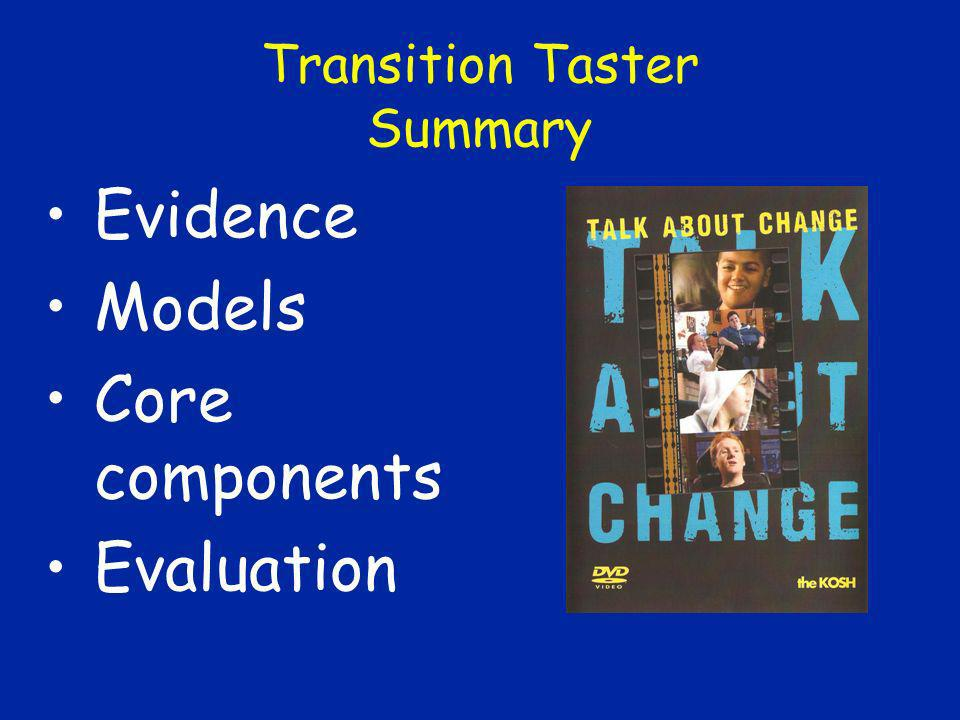 Transition Taster Summary
