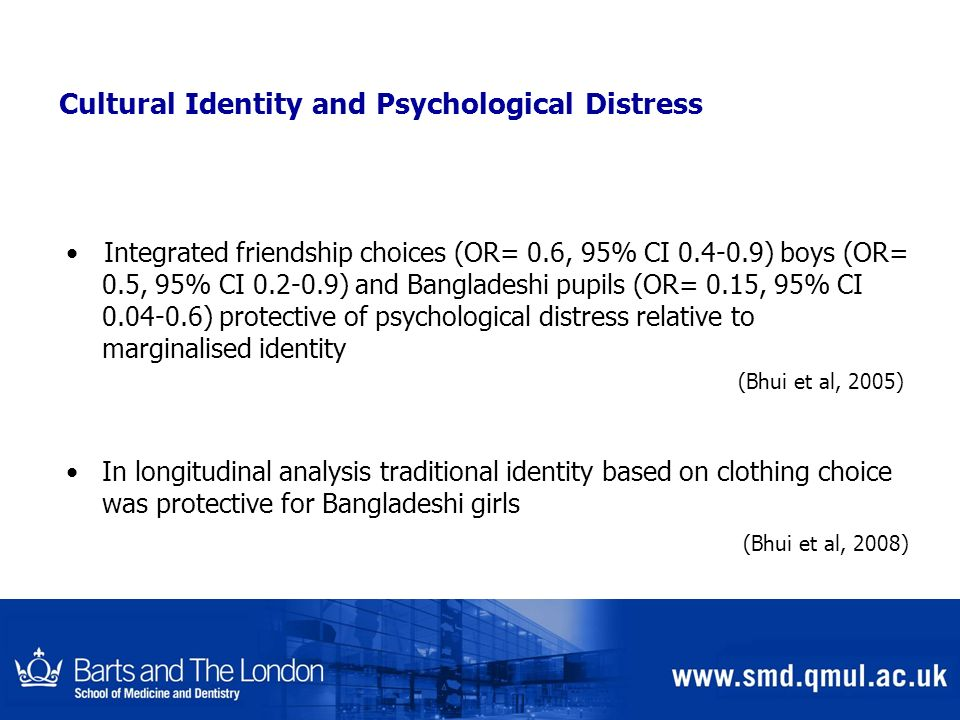 Cultural Identity and Psychological Distress
