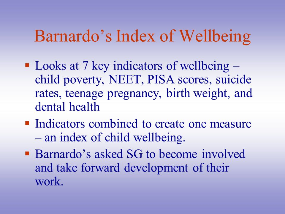 Barnardo's Index of Wellbeing