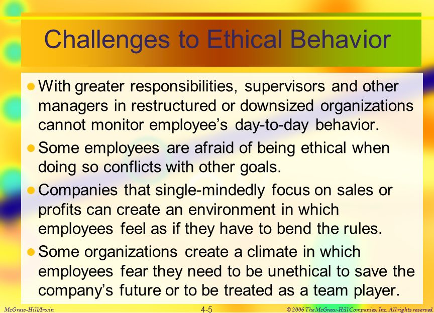 ethical behavior in workplace Trust and openness are crucial elements of an ethical organizational culture only when employees are able to voice the problems they see can ethical lapses be discussed and resolved a first step in building this kind of culture involves a hiring approach in which companies actively seek those individuals.