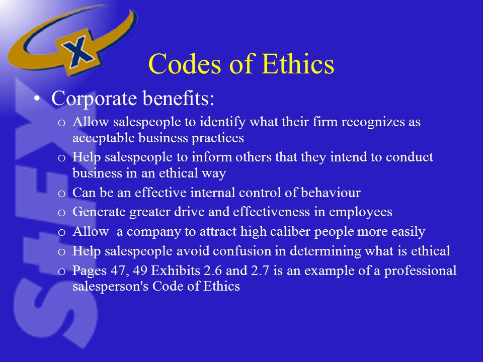 Building trust and sales ethics ppt video online download for Company code of ethics template