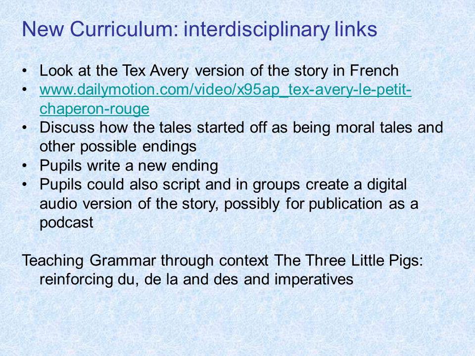 New Curriculum: interdisciplinary links