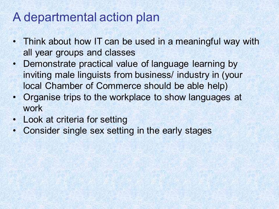 A departmental action plan