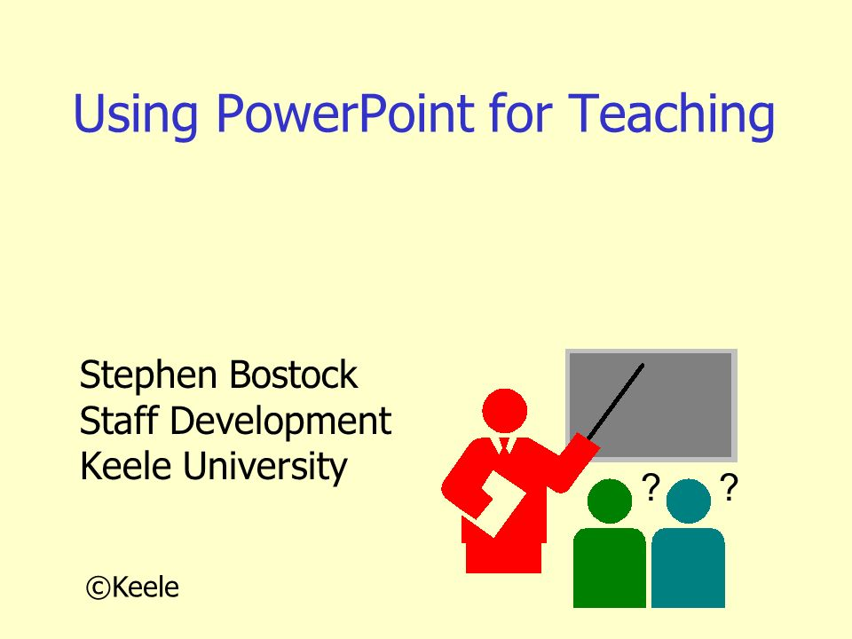 Using PowerPoint for Teaching