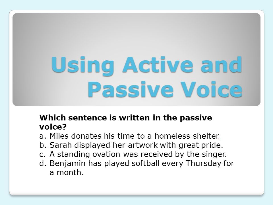 active and passive person