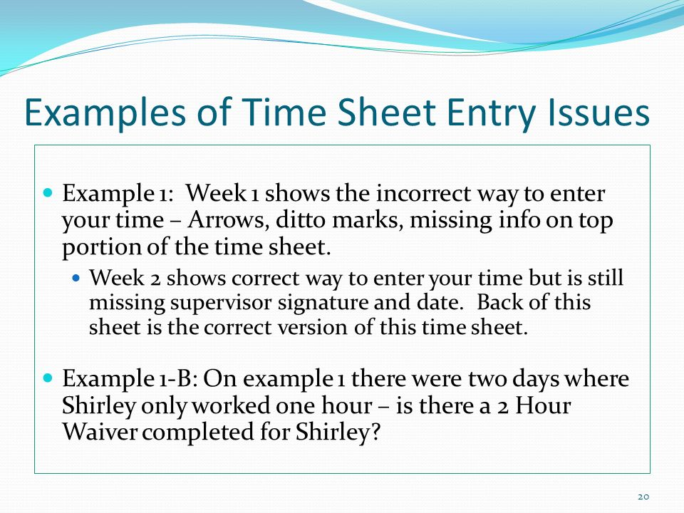 time sheet example
