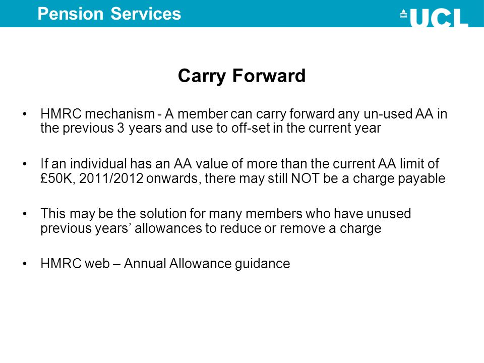 Carry Forward Pension Services