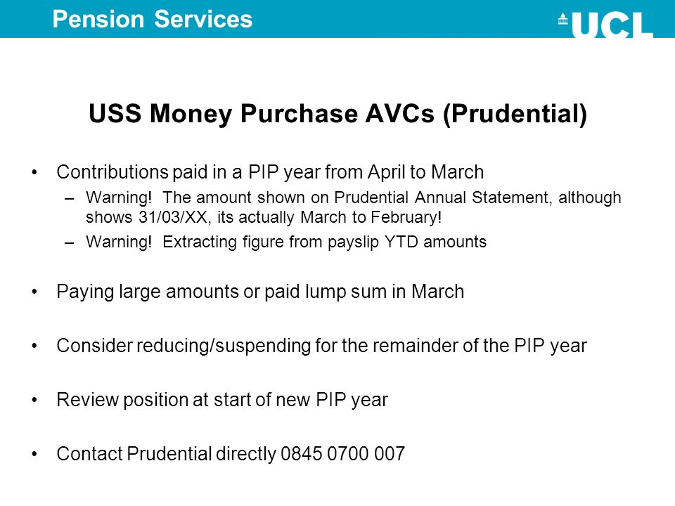 USS Money Purchase AVCs (Prudential)