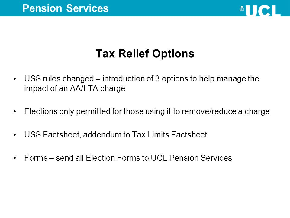 Tax Relief Options Pension Services