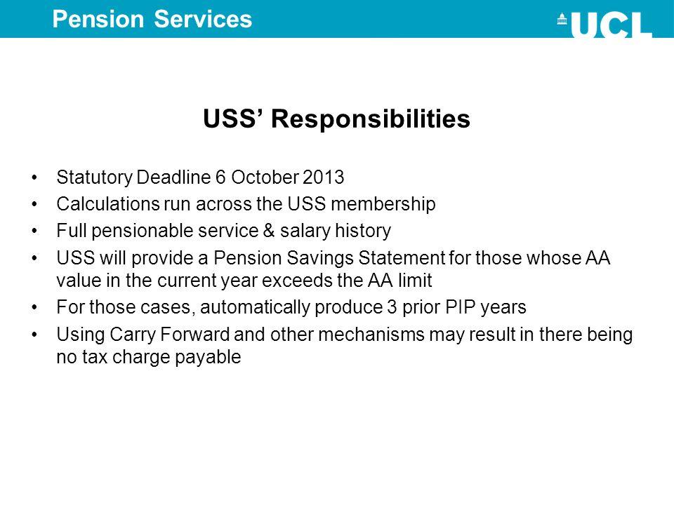 USS' Responsibilities