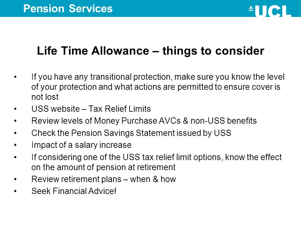 Life Time Allowance – things to consider