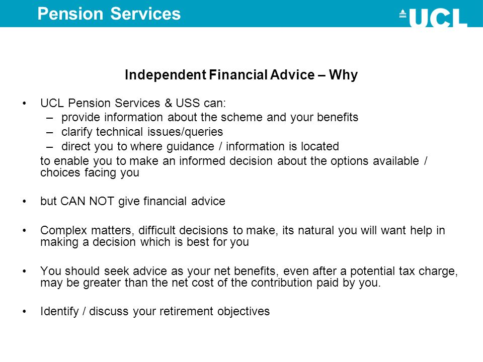 Independent Financial Advice – Why
