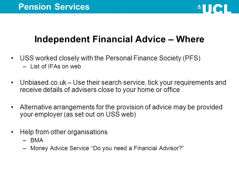 Independent Financial Advice – Where