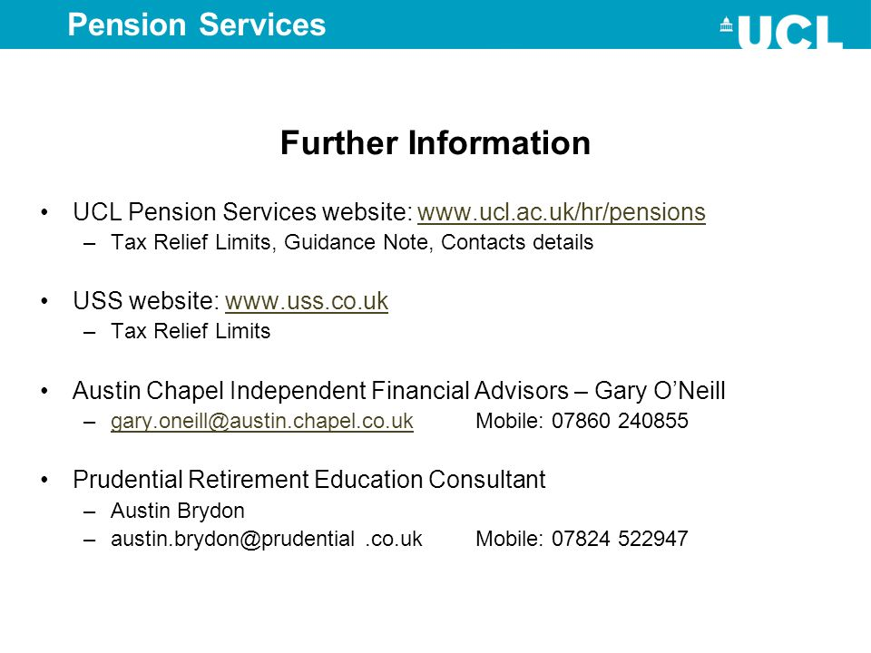 Further Information Pension Services