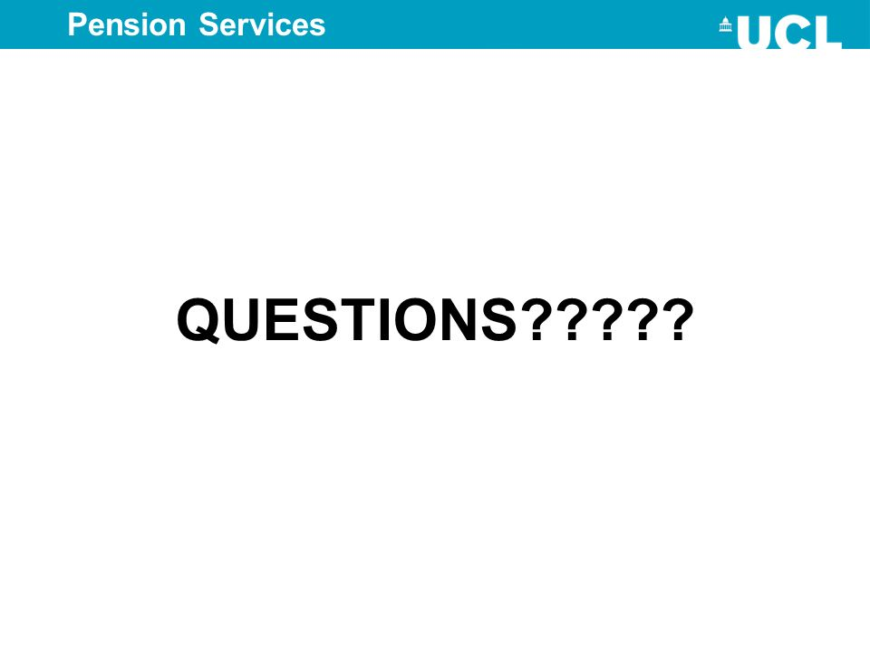 Pension Services QUESTIONS