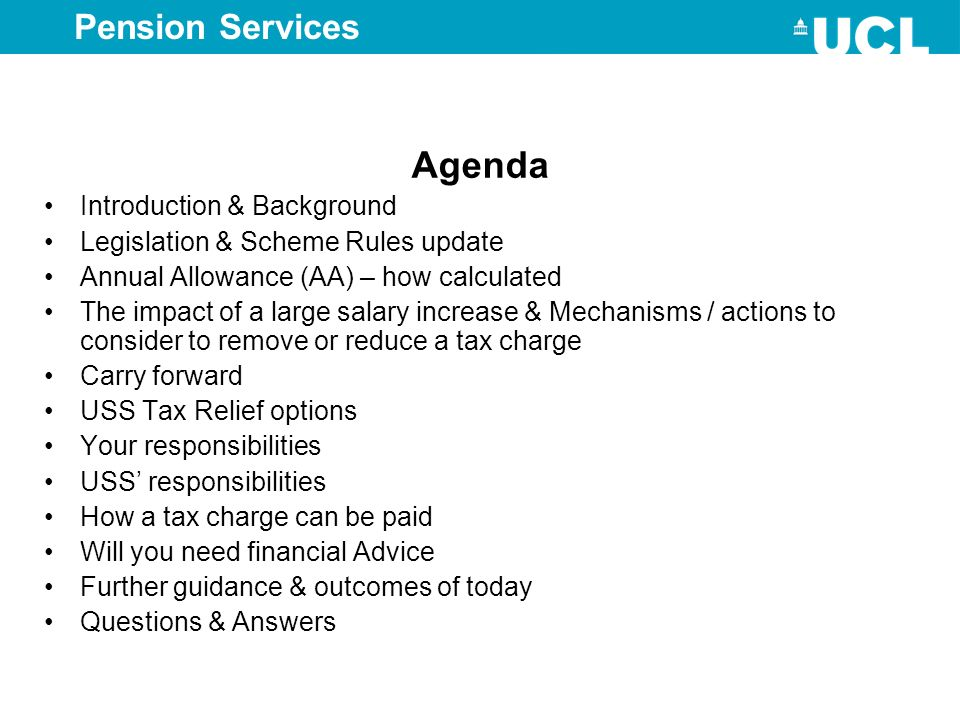 Agenda Pension Services Introduction & Background