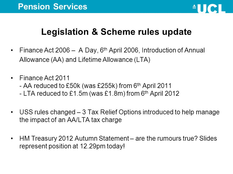 Legislation & Scheme rules update
