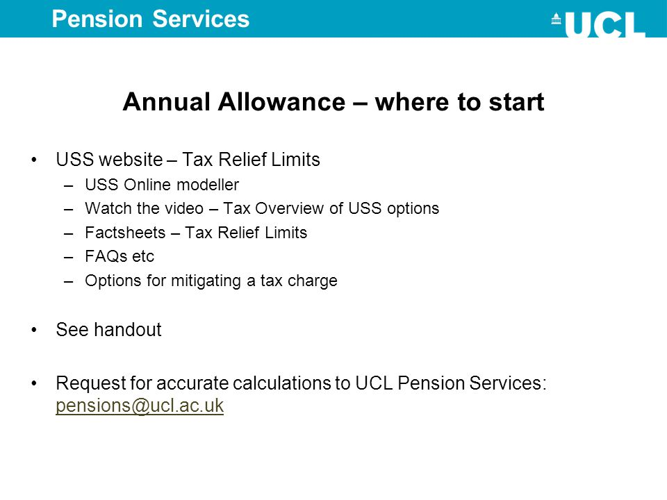 Annual Allowance – where to start