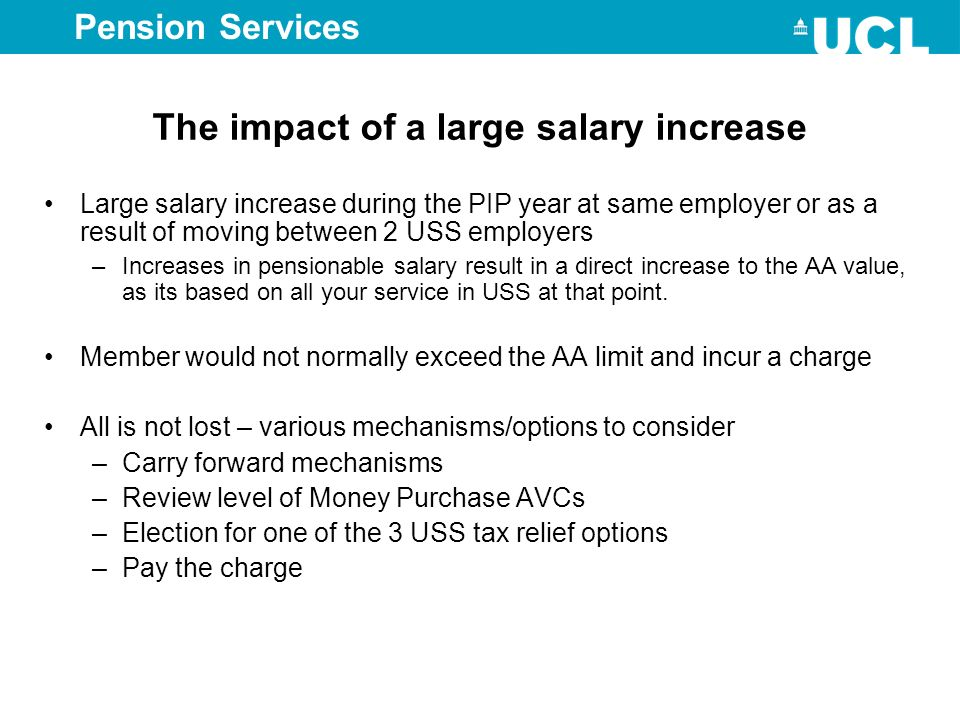 The impact of a large salary increase
