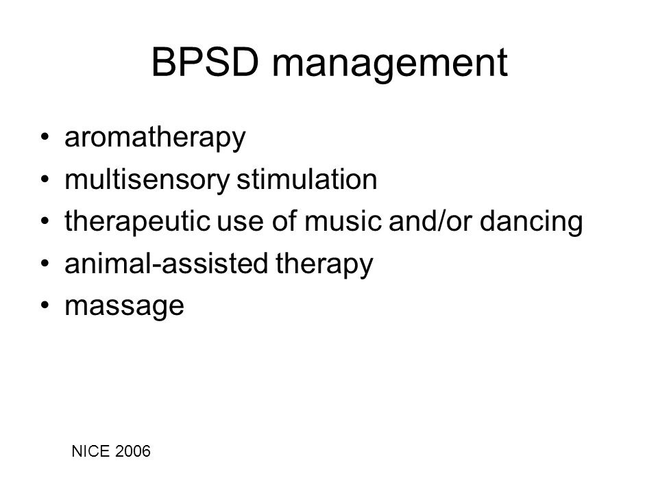 BPSD management aromatherapy multisensory stimulation