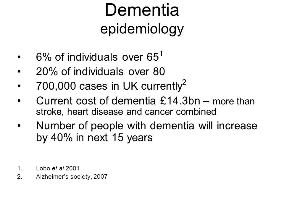 Dementia epidemiology
