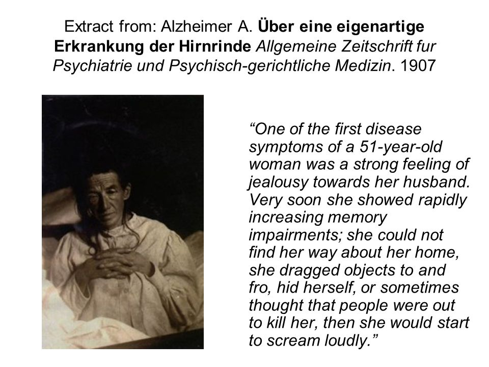 Extract from: Alzheimer A