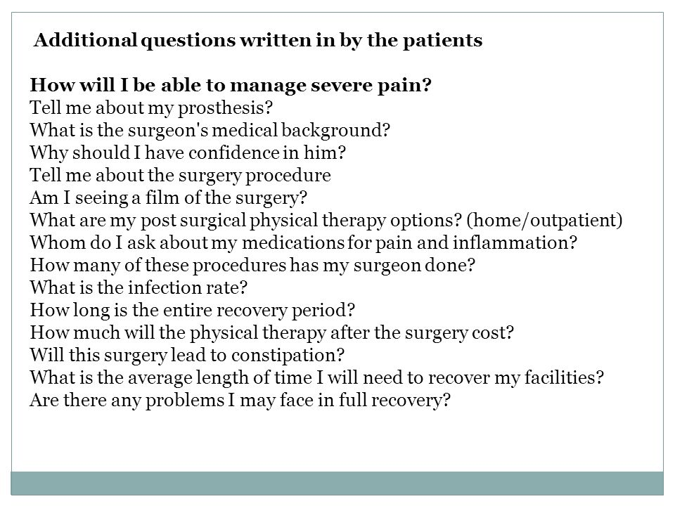 How will I be able to manage severe pain Tell me about my prosthesis