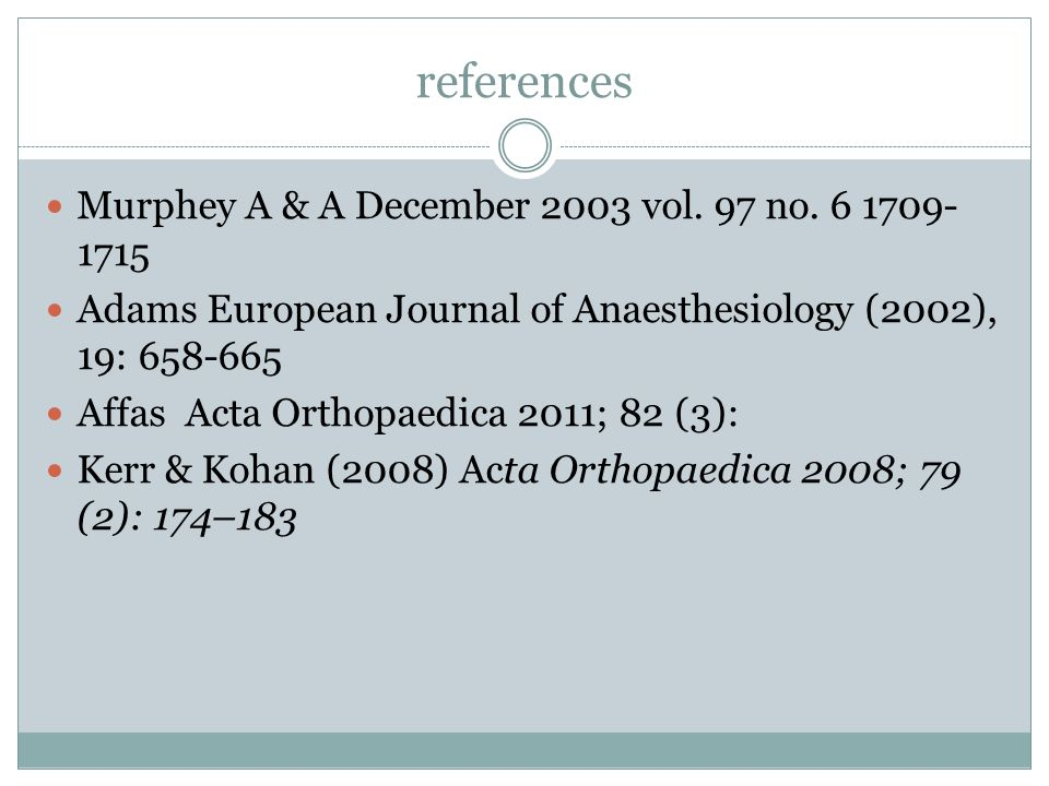 references Murphey A & A December 2003 vol. 97 no. 6 1709-1715