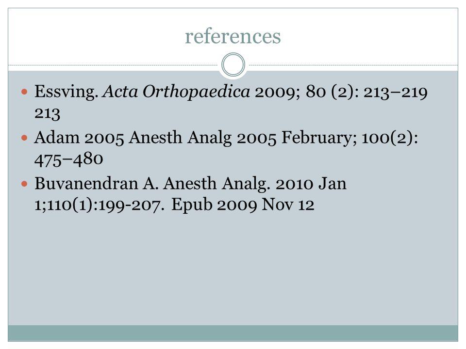 references Essving. Acta Orthopaedica 2009; 80 (2): 213–219 213