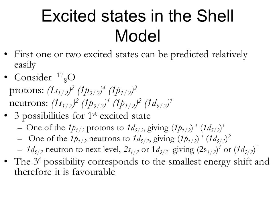 Excited states in the Shell Model