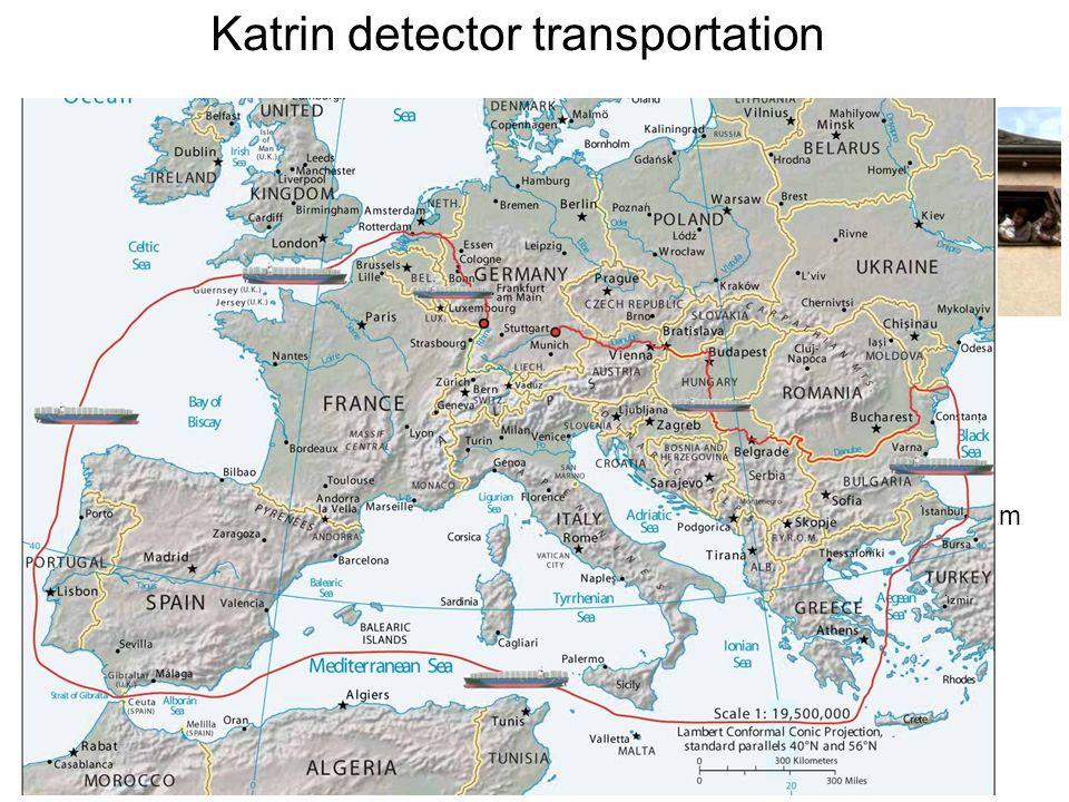 Katrin detector transportation