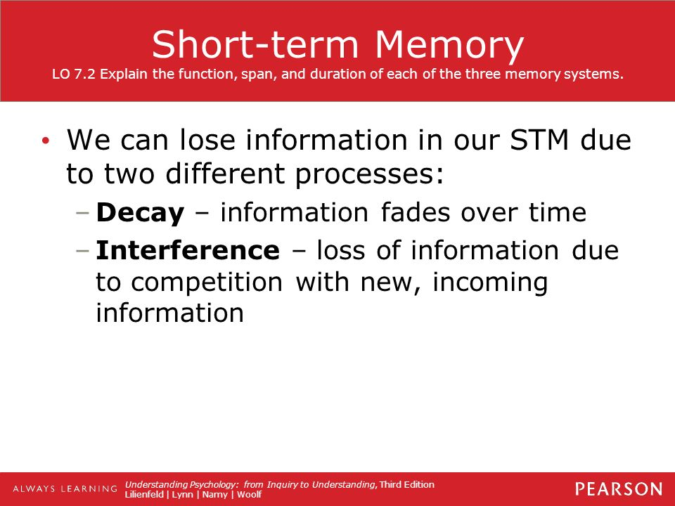 explanations of forgetting in short term 2016-12-7 there is no consensus as to why forgetting occurs in short-term  of explanations of the time-based forgetting  experimental.