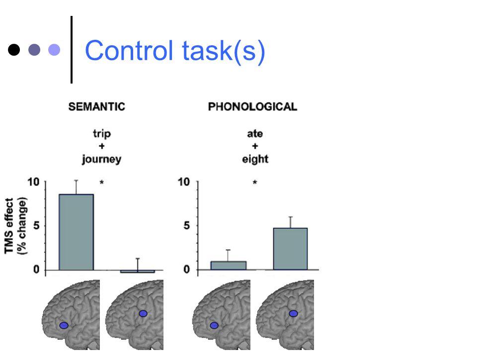 Control task(s)