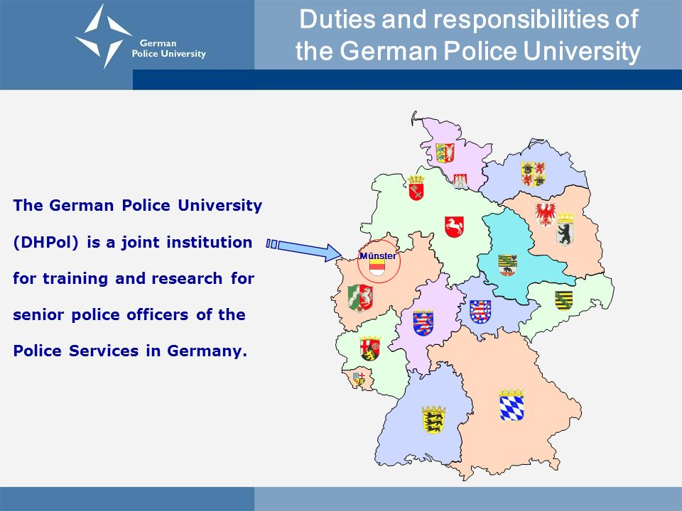 Duties and responsibilities of the German Police University