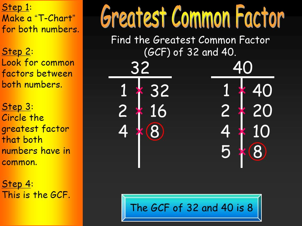 Factors and Greatest 7-1 Common Factors Warm Up Lesson ...