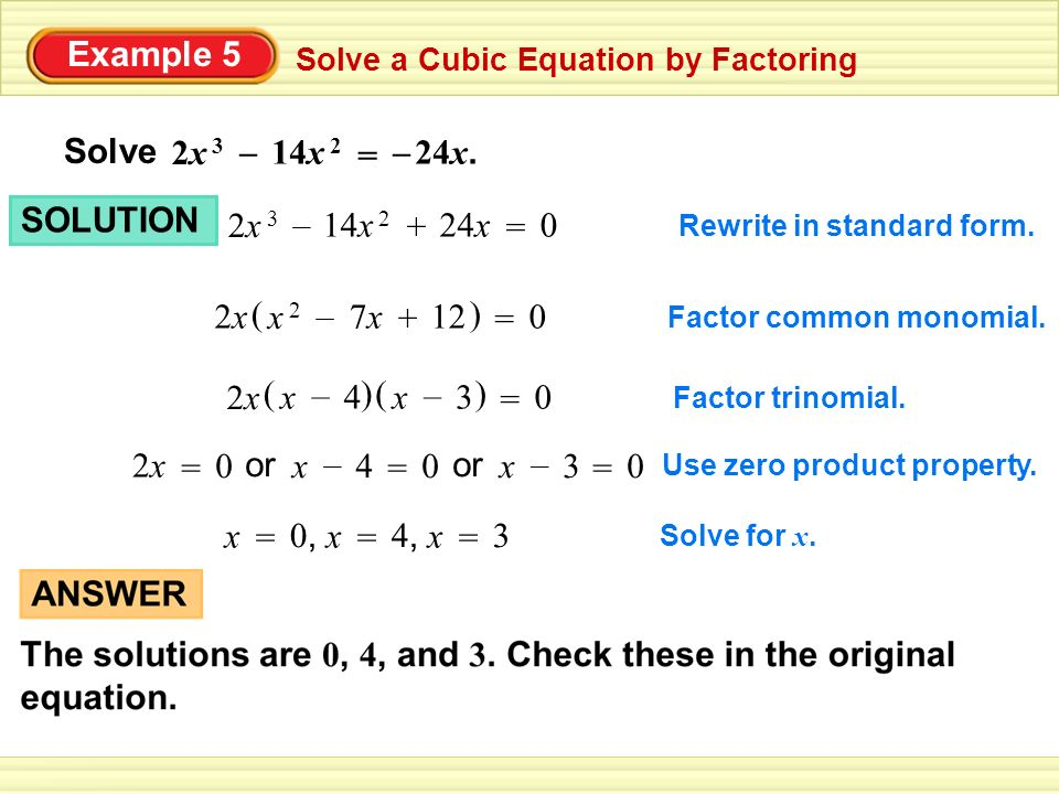 6.5 Factoring Cubic Polynomials - ppt video online download