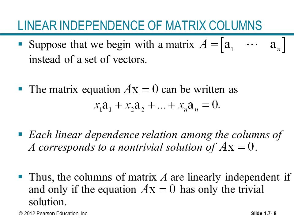 Linear Equations in Linear Algebra - ppt video online download