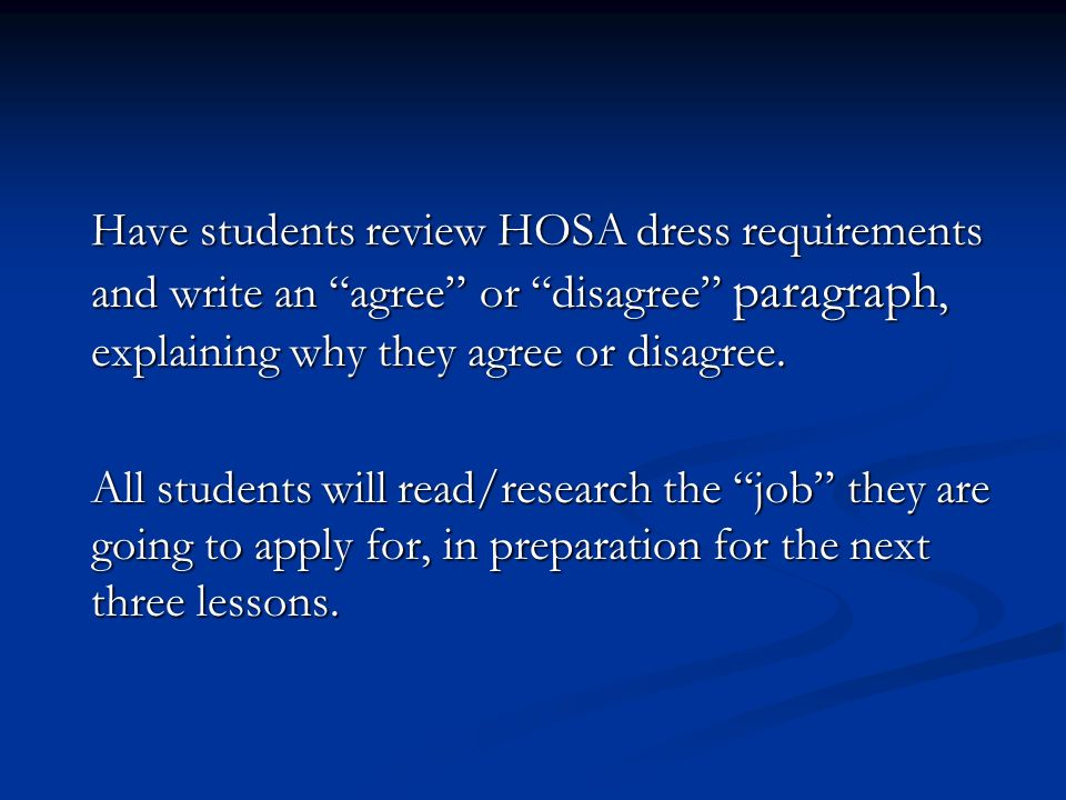 how to write an agree or disagree paragraph