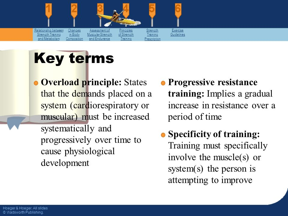 explain the relationship between weight training and progressive resistance