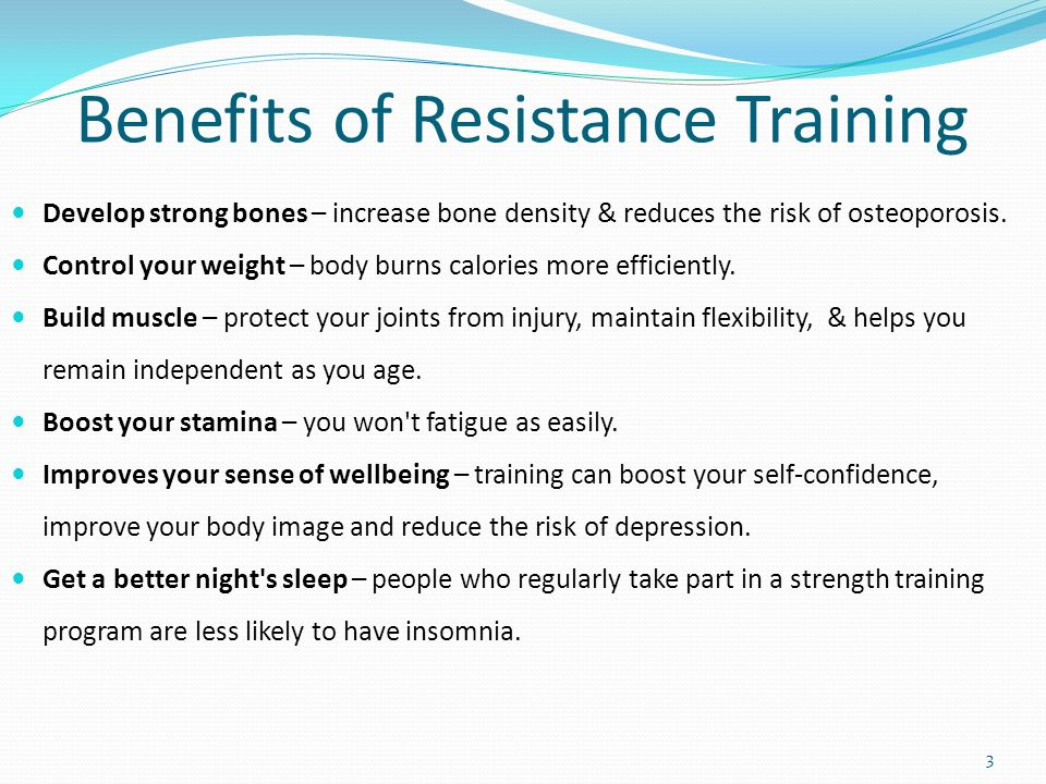 Resistance training – health benefits